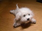 Needle felted miniature dog
