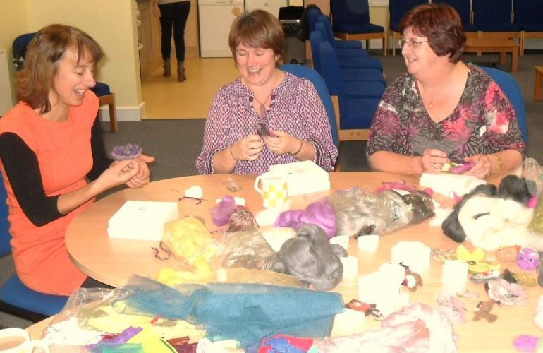Needle Felting Brooch Workshop