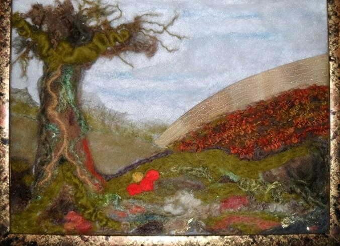 Shiela's Needle felted landscape.