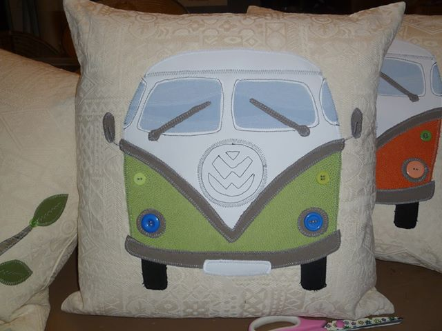 Retro Van cushion created by Helena.