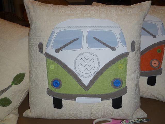 Retro Van cushion created by Helena.