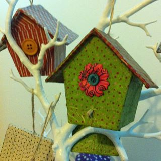 Stuff with Style make funky gifts such as this wooden bird house.