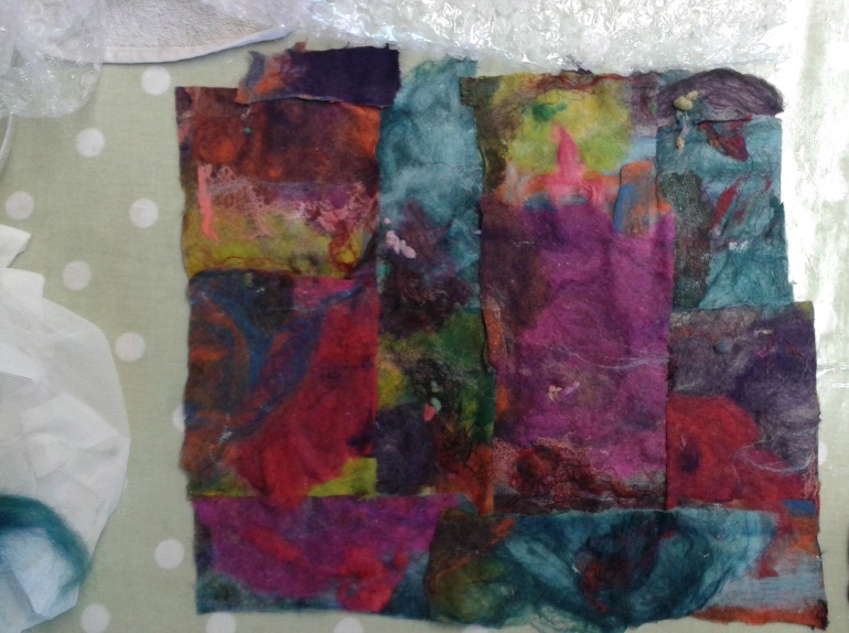 Pre-felt stage of abstract picture