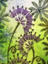 Hand embroidery onto Vilene