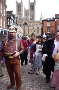 Colonial gent poses in Castle Square