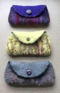 Merino Wool Purses, ideal for use as a glasses case.