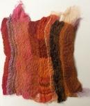 Nuno felting using a variety of fabrics