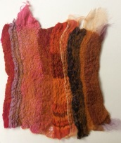 Nuno felting using a variety of fabrics