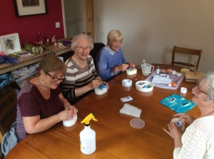 Lincoln U3A ladies trying out needle felting