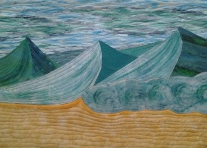Three Green Waves by Sandra Goldsbrough.