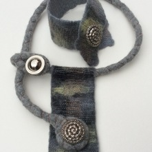 Commissioned Merino Necklace and Cuff