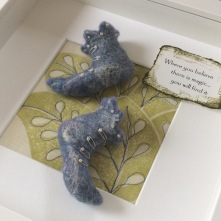 Blue Merino Fairy Shoes