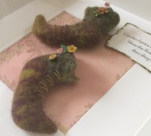 Wet Felted fairy shoes