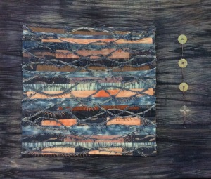 A contemporary quilt by a member of Weedon Bec Creative Textile Group