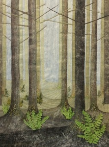 A Walk in the Forest art quilt by Karen Lane