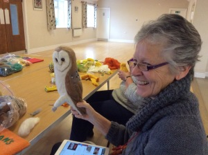 Sheila and her owl.