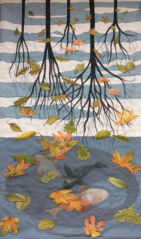 A Tribute to Three Worlds Art Quilt by Karen Lane
