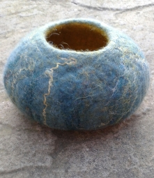Wet felted bowl