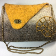 Bergschaf Ammonite Bag with bronze coloured fastening and chain