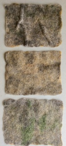 Wet felted Bergschaf fibres