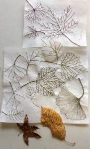 Lutradur leaves
